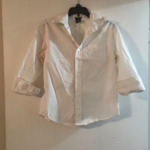 3/4 sleeve button down top